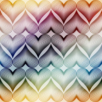 Pattern of geometric hearts.