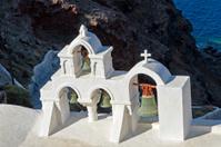 Morning light on church in Oia, Santorini,Greece