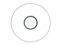 Blank CD/DVD on white background