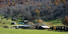 Farming community in late autumn