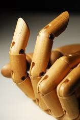 gentle wooden hand