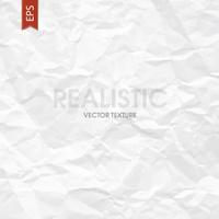 Crumpled paper texture. Vector