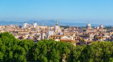Panoramic view of Rome