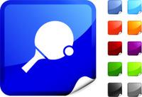 ping-pong racket and ball internet royalty free vector art