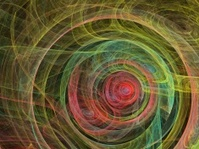 Digital paint from fractal canvas background