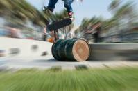 Skater in flight