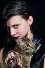 Dark goth girl