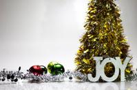 Gold Christmas Tree With Joy