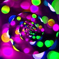 Twisted bokeh like disco lights.