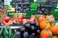 Vegetable stall on market