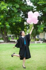 female graduation portrait