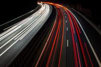 Highway at night - long exposure