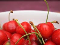 Fresh cherries close up