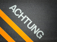Achtung German Attention Text