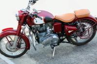 Classical asian motorbike. Pokhara-Nepal. 0747