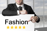 businessman pointing on sign fashion five stars
