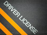 Driver License Text Writing Road Asphalt