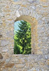 Likavsky hrad - ruined castle in Slovakia