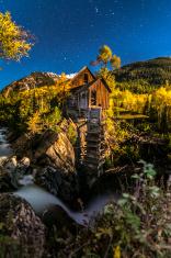 Crystal Mill Bright Starry Night Gunnison Colorado
