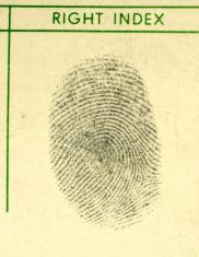 Right Index Fingerprint Close-up