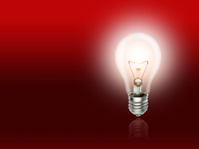 bulb  lamp light idea background red