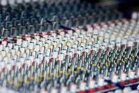Mixing board control nobs