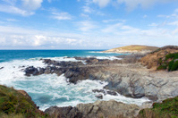 Newquay coast Cornwall England UK Little Fistral and Nun Cove