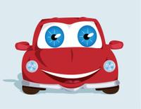 Funny smiling car