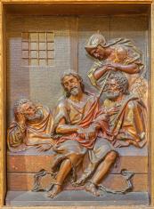 Seville - relief of  St. John the Baptist in prison