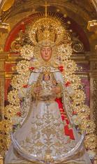 Seville - The tradicional vested Madonna statue