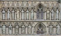 Front of Nidaros Cathedral inTrondheim, Norway