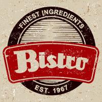 Vintage Restaurant Label