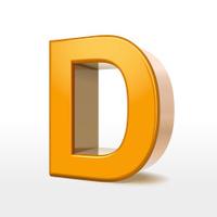 golden 3d alphabet D