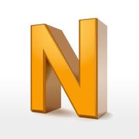 golden 3d alphabet N