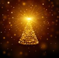christmas tree opening gift box christmas background
