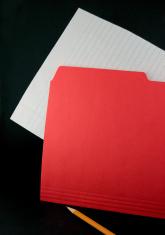 Red Folder on Black