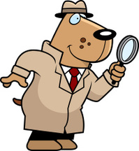 Cartoon Dog Detective