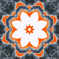 Mandala orange swadhisthana lotus flower symbol. Stylized chakra
