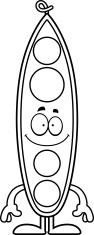 Happy Cartoon Peapod