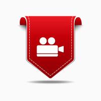 Video Camera Red Vector Icon Design