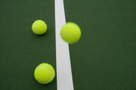 Tennis ball bounce series