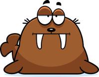 Bored Cartoon Walrus