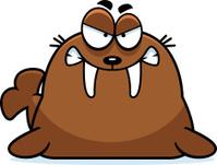 Angry Cartoon Walrus