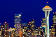 Defocused Seattle Skyline
