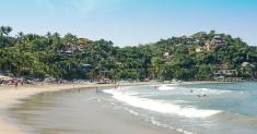 Salulita Beach and Surfers, Mexico