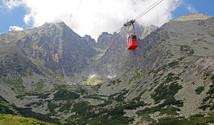 Red ropeway in High Tatras, Slovakia