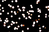 Defocused, blurred christmas lights