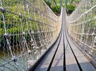 The close view of a drawbridge