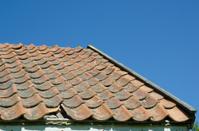 Broken tiled roof