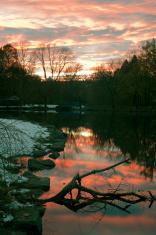 River Sunset at Van Cortlandt Park in the Bronx